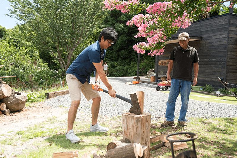 Chop wood image